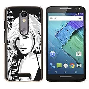 EJOOY---Cubierta de la caja de protección para la piel dura ** Motorola Moto X3 3rd Generation ** --Hot Girl Atractivo