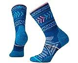 Smartwool Women's PhD Outdoor Light Pattern Crew Socks (Dark Blue) Medium