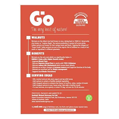 GO Organic Walnuts KERNELS Extra Light /Quarters 2 X 250 GM