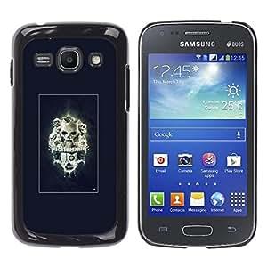 CASECO - Samsung Galaxy Ace 3 - Nightmare Skulls - Delgado Negro Plástico caso cubierta Shell Armor Funda Case Cover - Pesadilla Skulls