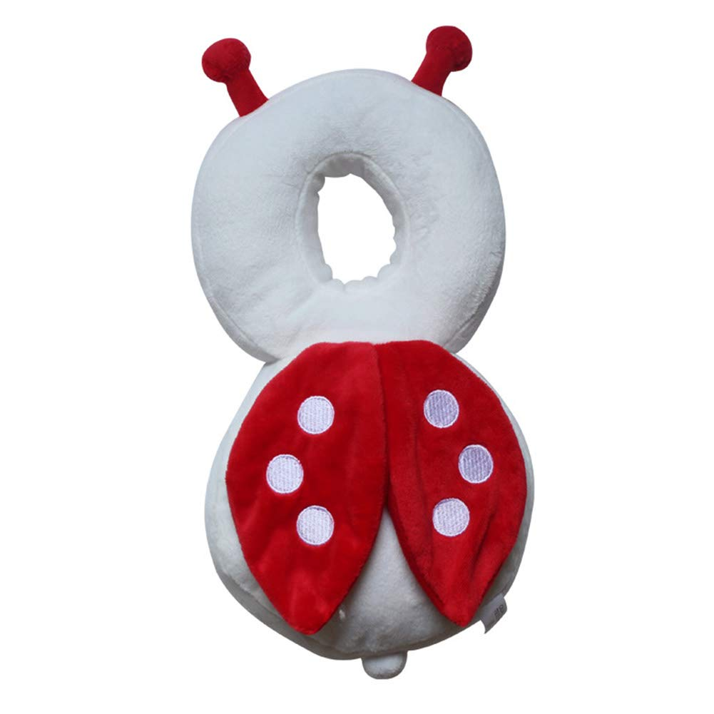 Baby Head Protector Baby Toddlers Cartoon Soft Head Safety Pad Cushion Baby Back Protection Prevent Toddlers Injured Red
