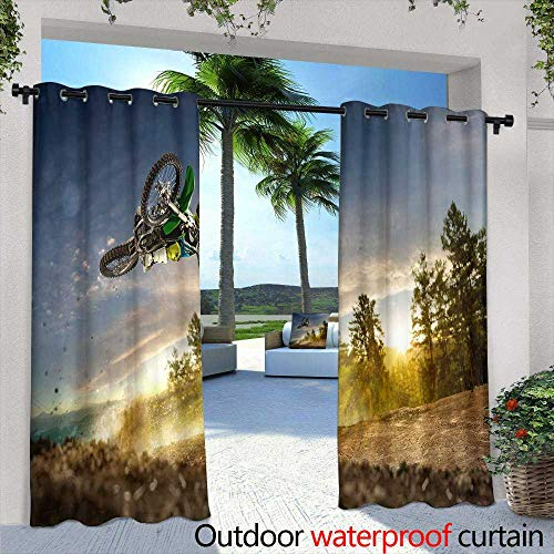 Lightly Outdoor Privacy Curtain for Pergola,Colorful Billiard Balls on a Pool Table,W84 x L84 Thermal Insulated Water Repellent Drape for Balcony
