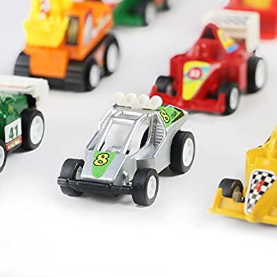 Mini Toy Cars Pull Back Vehicles 12 Pack Assorted Trucks and Raced Car Toy Play Set with Dump Trucks Diggers Bullozers Racing Cars Karting Construction Party Favors for Kids Boys 12 pieces(Color Vary) from YI DA