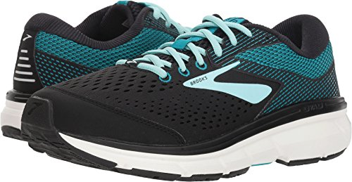 Brooks Women's Dyad 10 Black/Island/Capri 8 B US B (M)