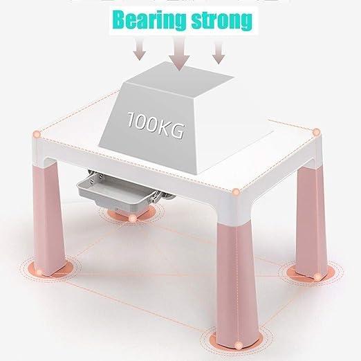 MYH Pupitre de niño Tabla heces niño mesas sillas Infantiles de plástico Estable el Vector de gráfico del Juego ...