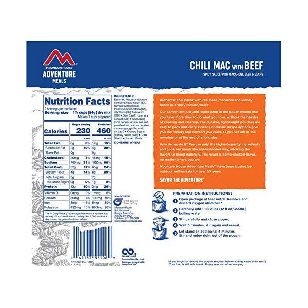 Mountain House Chili Mac beef