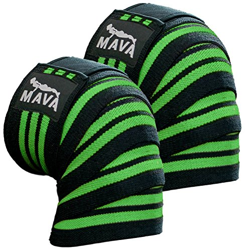 """Knee Wraps for Cross Training WODs,Gym Workout,Weightlifting,Fitness & Powerlifting - Best Knee Straps for Squats -Suits both Men and Women- 72"""" -Great Compression with Elastic Support"""