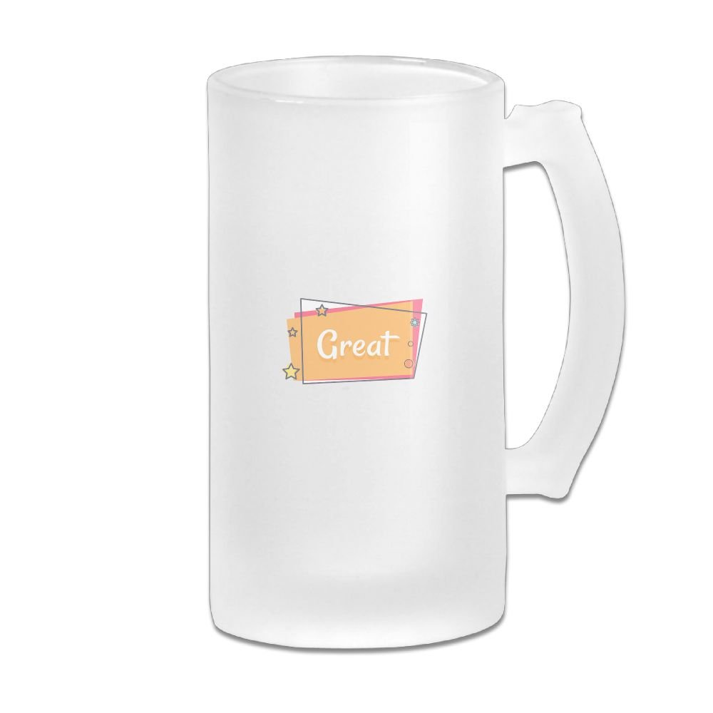 WSXEDC Great Beer Glass Mug Personalized Mug Thick Glass Mug Great For Pub Bars Restaurants 16 Ounce