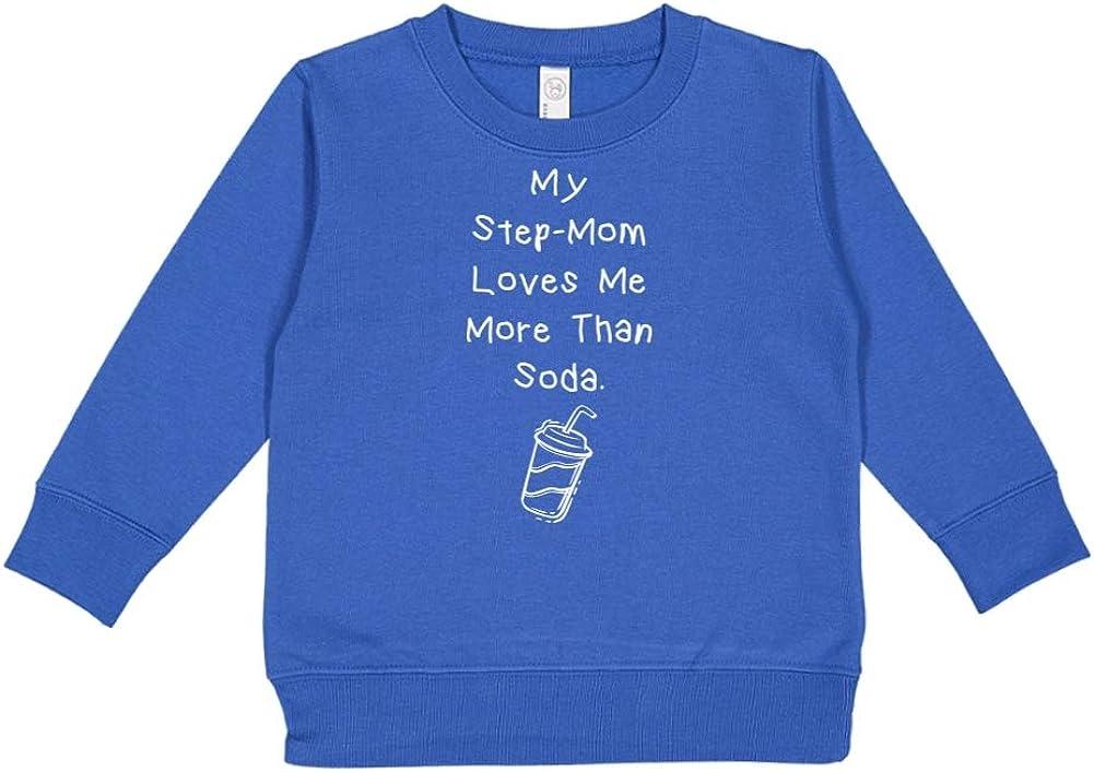 Toddler//Kids Sweatshirt My Step-Mom Loves Me More Than Soda