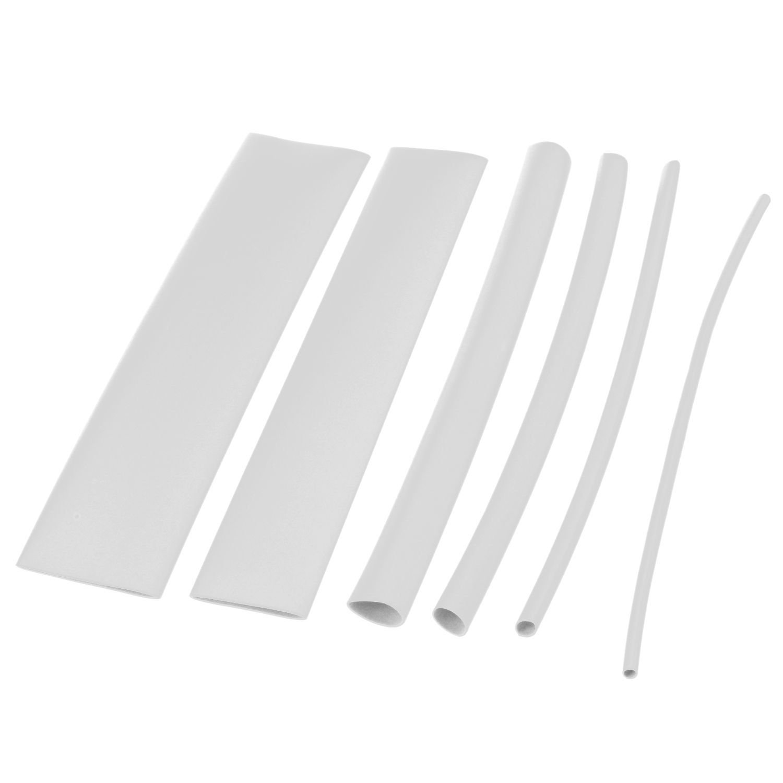 SODIAL(R) 100 pcs heat shrink tube casing heat shrink tube color:white