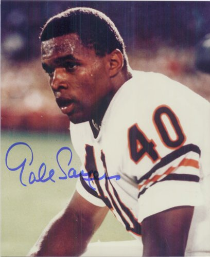Signed Sayers, Gale (Chicago Bears) 8x10 Photo (Gale Sayers Autographed Bears)