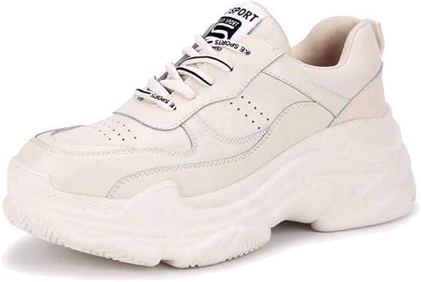 para Mujer Zapatillas De Deporte Chunky Zapatillas Retro Gimnasio ...