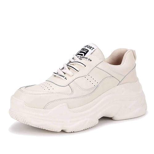 para Mujer Zapatillas De Deporte Chunky Zapatillas Retro Gimnasio Deporte Zapatillas De Deporte para Correr Primavera Fondo Grueso Zapatillas para Correr ...