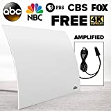 Mohu ARC Plus 60-Mile Range Designer Indoor Amplified HDTV Antenna (2018 Newest Version) - GET Free TV - Omnidirectional, Includes Long Coax, Replace Cable TV