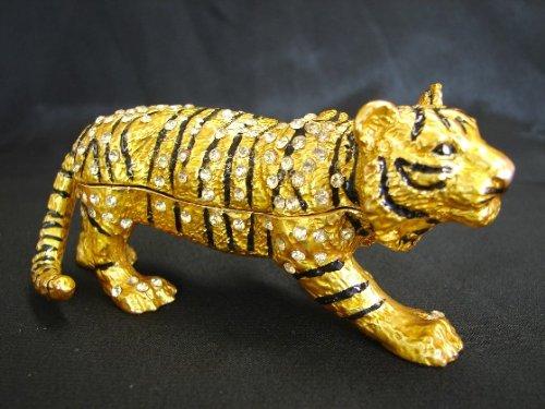 Bejeweled Cloisonne Tiger