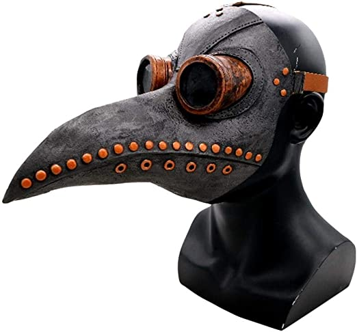 The Plague Doctor Bird paper mache Mask Costume Carnival Halloween Cosplay Party