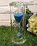 Lannmart 15/30/60 Mins Nice Blue Sand Crystal Sandglass Round Shaped Hourglass Timer Clock Crafts for ren Home Decor Gift