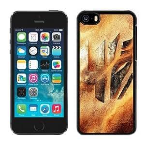 NEW Unique Custom Designed iPhone 5C Phone Case With Transformers 4 Logo Desert Sand_Black Phone Case