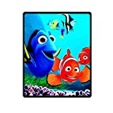 JIUDUIDODO Clown Fish Story Finding Nemo Microplush Fleece Throw Blanket 40