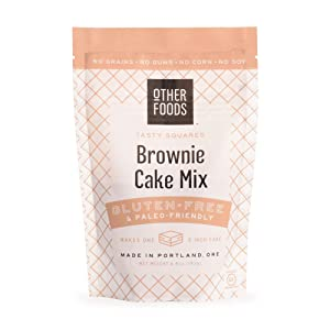 Gluten Free Chocolate Brownie Cake Mix, Paleo Friendly – Grain, Dairy, Nut & Soy Free - Easy Bake Baking Mix, by Other Foods