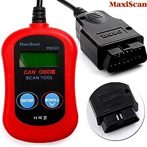 agm ms300 maxiscan scan obdii obd2 auto scanner. Black Bedroom Furniture Sets. Home Design Ideas