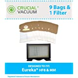 Filter/Bag kit for Eureka Mighty Mite Vacuums w/1 HF8 HEPA Filter & 9 MM Vacuum Bags; Compare to Eureka Part No. 60666, 60295, 60296, 60297; Designed & Engineered by Think Crucial