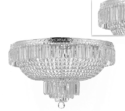 Basket Semi Flush - French Empire Crystal Semi Flush Basket Chandelier Chandeliers Lighting! H18