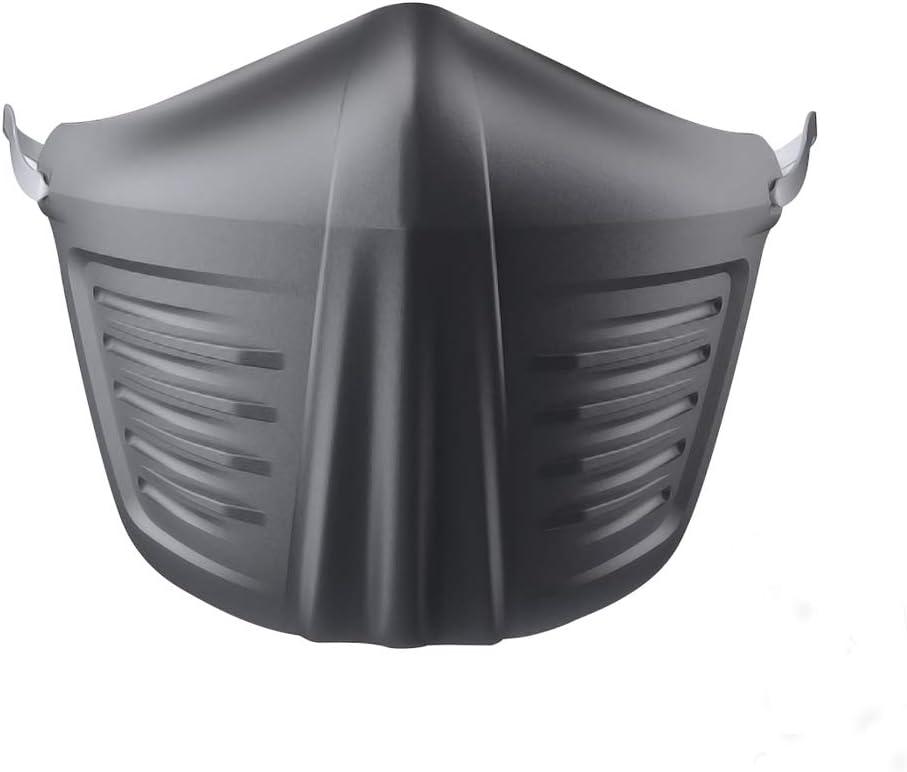 Pretty See Máscara Facial Reutilizable Lavable Antigotas con Orejeras de Silicona, 25 Filtros Reemplazables