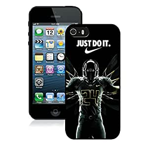 For iPhone 5S,100% Brand New NCAA Pacific 12 Conference Pac 12 Football Oregon Ducks 09 Black For iPhone 5S Case