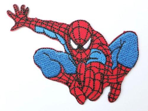 "SPIDERMAN Spider Man Jump Iron On Emroidered Patch 3""/7.8cm x 1.9""/4.5cm By MNC Shop"