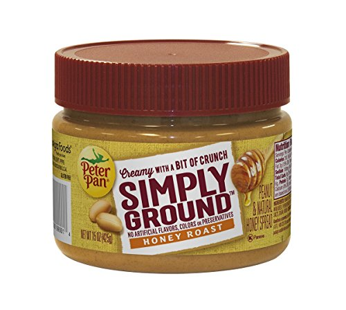 Peter Pan Simply Ground Honey Roast Peanut Butter, 15 Ounce