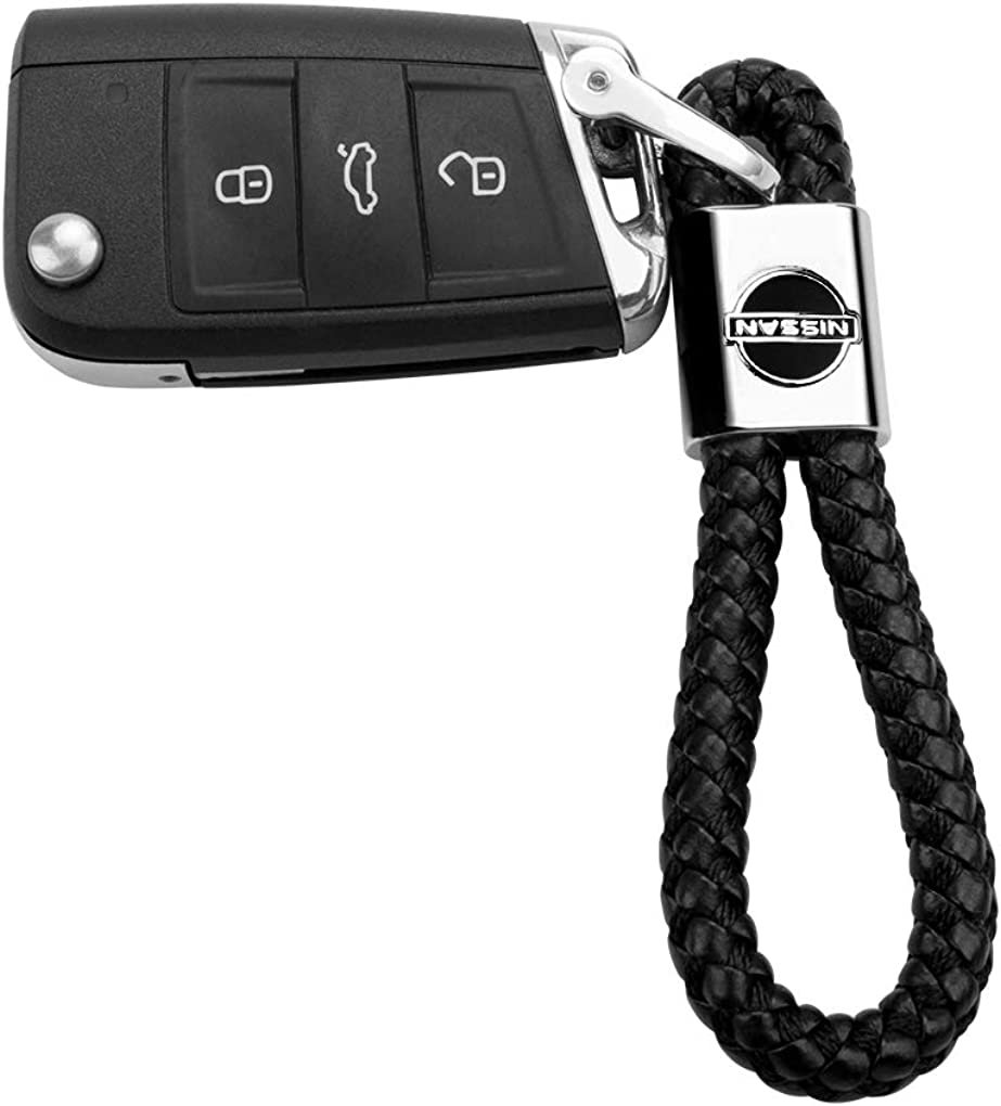 HANBAO Genuine Leather Car Keychain Key Chain Keyring Family Present for Man and Woman