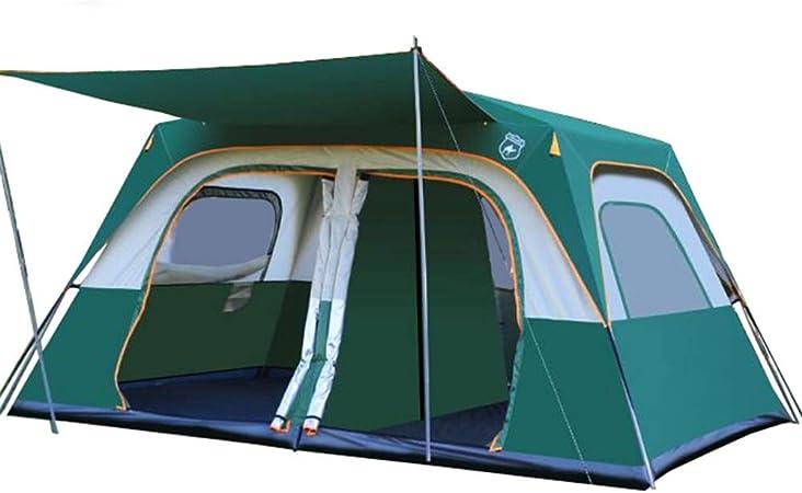 Tienda de campaña familiar 8-9 personas adecuado for acampar viajar familiar actividades al aire libre tienda de campaña Senderismo Viajes Familia Playa Carpa (Color : Green , Size : One Size) : Amazon.es: Hogar