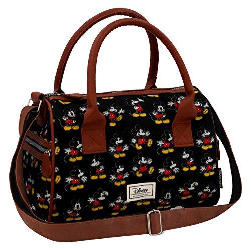 Disney Classic Mickey Moving Messenger Bag, 31 cm, Black (Negro)