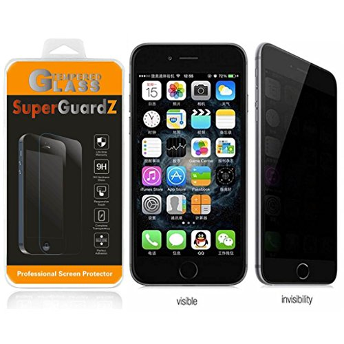 For iPhone 7 Plus 5.5 - SuperGuardZ 360 Degree [4-way] Privacy Anti-Spy Tempered Glass Screen Protector, 9H, 0.3mm, 2.5D Round Edge, Anti-Scratch, Anti-Bubble