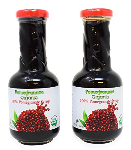 (Organic Pomegranate Molasses 12.35 Oz Glass Bottle Syrup (Pack of 2))