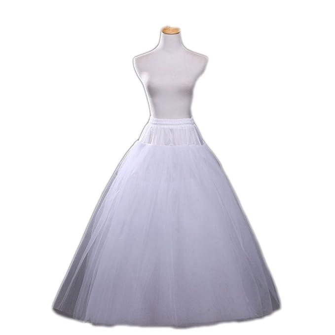 Amazon.com: marryou no-hoop tul Petticoat para Boda Vestido ...