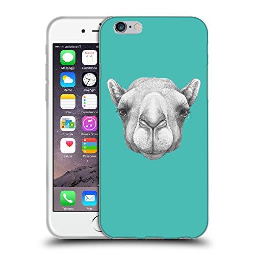 """GoGoMobile Coque de Protection TPU Silicone Case pour // Q05360634 Portrait Camel Turquoise // Apple iPhone 6 4.7"""""""