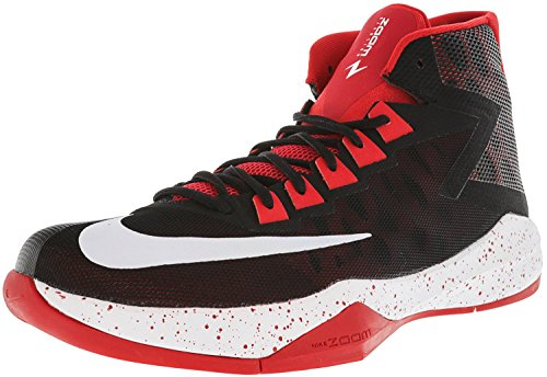 Nike Mens Zoom Devosion Scarpe Da Basket Nero / Bianco / Rosso Università