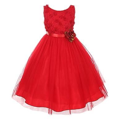 Tulle Flower Girl Dresses in Red