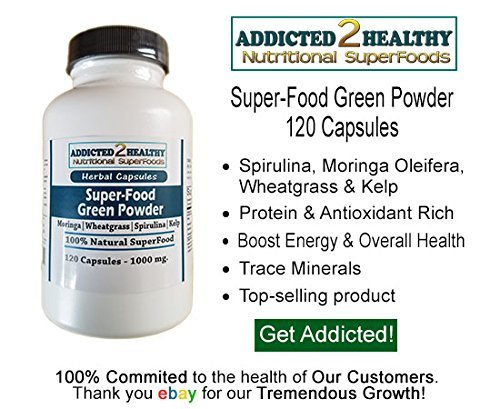 Amazon.com: 120 Avocado Seed Powder & 120 SuperFood Green Powder Capsules(1000 mg) Amazing Supplement,Top Nutrition,Energy,Lower Blood Sugar+Cholesterol ...
