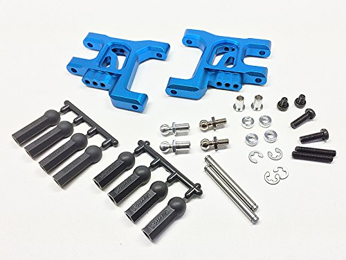 Wide suspension arms for Aluminum Front (for Tamiya Wild Willy 2) Blue SWR-31FB by Square