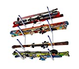 StoreYourBoard Horizontal Multi Ski Wall Rack | Home and Garage Skiing Storage Mount