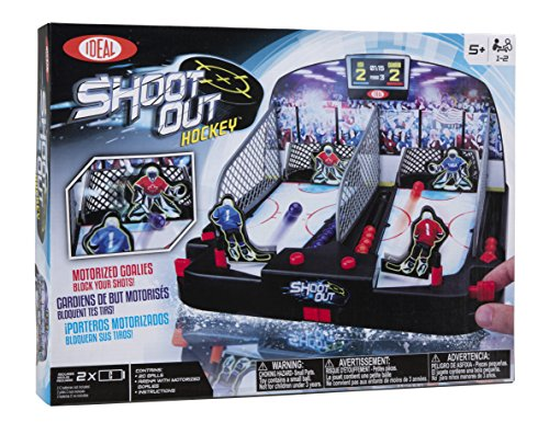 Ideal Motorized Shoot-Out Hockey with Automated Goalie and Automatic Ball Return