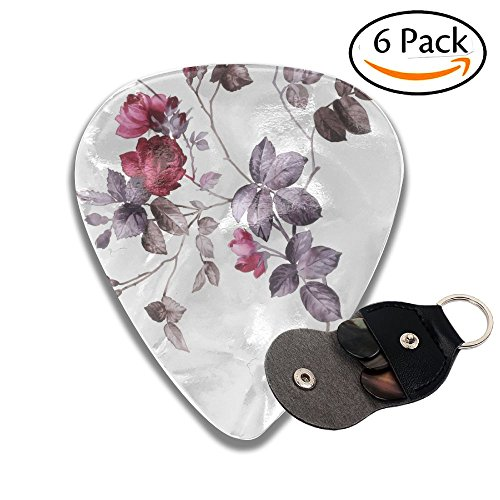Zakk Wylde Les Paul Guitar - Wxf Color Illustration Of Flowers In Watercolor Paintings Colorful Celluloid Guitar Picks Plectrums For Guitar Bass .46mm 6 Pack
