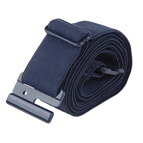 Adjustable Stretch Belt: No Show Flat Buckle, Non-Slip Backing (Navy Blue)