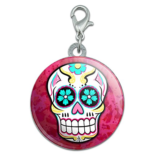 Sugar Skull Stainless Steel Pet Dog