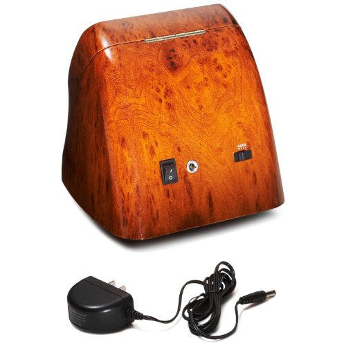 CIRCA Burl Wood Finish Double Watch Winder Off-White Leather 4 Settings by Circa (Image #2)