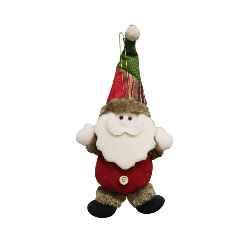 Memela Festive Season Plush Hanging Christmas Ornament ColorsReindeer Toy Doll Hang Party Decoration