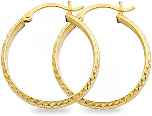 Hoop Earrings SS 35MM TWISTED HOOP EAR//SATIN//SHINY